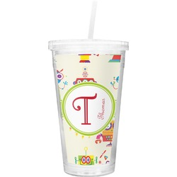 Rocking Robots Double Wall Tumbler with Straw (Personalized)