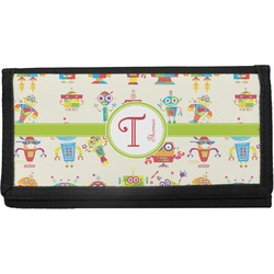 Rocking Robots Canvas Checkbook Cover (Personalized)