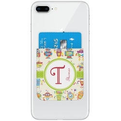 Rocking Robots Genuine Leather Adhesive Phone Wallet (Personalized)