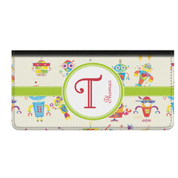 Rocking Robots Genuine Leather Checkbook Cover (Personalized)