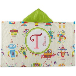 Rocking Robots Kids Hooded Towel (Personalized)