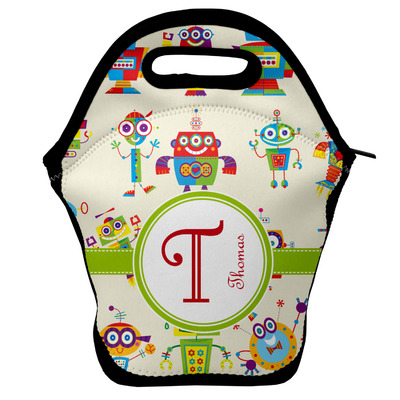 Rocking Robots Lunch Bag w/ Name and Initial
