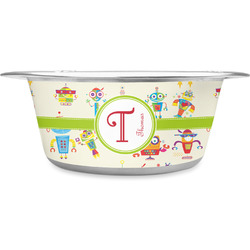 Rocking Robots Stainless Steel Dog Bowl (Personalized)
