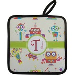 Rocking Robots Pot Holder w/ Name and Initial