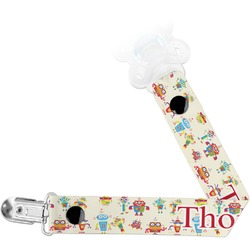 Rocking Robots Pacifier Clips (Personalized)