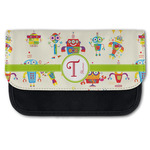 Rocking Robots Canvas Pencil Case w/ Name and Initial