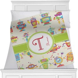 Rocking Robots Minky Blanket (Personalized)