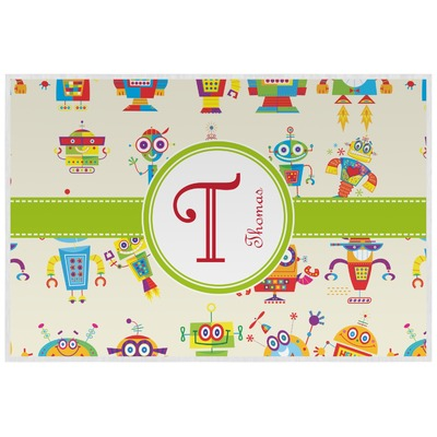 Rocking Robots Laminated Placemat w/ Name and Initial
