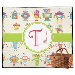 Rocking Robots Outdoor Picnic Blanket (Personalized)
