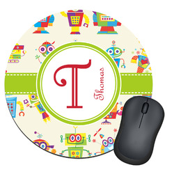 Rocking Robots Round Mouse Pad (Personalized)