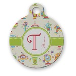 Rocking Robots Round Pet Tag (Personalized)