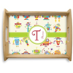 Rocking Robots Natural Wooden Tray - Large (Personalized)