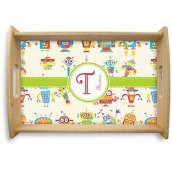 Rocking Robots Natural Wooden Tray (Personalized)