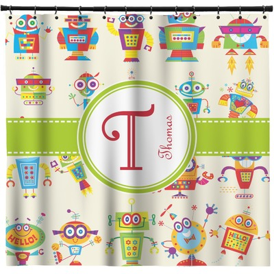 Rocking Robots Shower Curtain (Personalized)