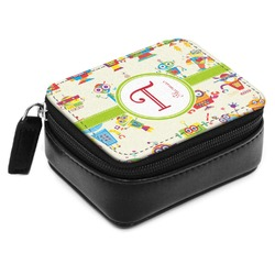 Rocking Robots Small Leatherette Travel Pill Case (Personalized)