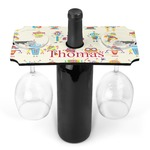 Rocking Robots Wine Bottle & Glass Holder (Personalized)