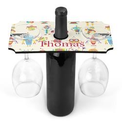 Rocking Robots Wine Bottle & Glass Holder (Personalized)