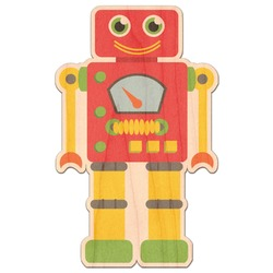 Rocking Robots Genuine Maple or Cherry Wood Sticker (Personalized)