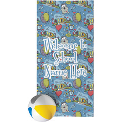 Welcome to School Beach Towel (Personalized)