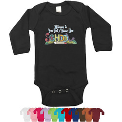 Welcome to School Long Sleeves Bodysuit - 12 Colors (Personalized)
