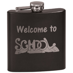Welcome to School Black Flask Set (Personalized)