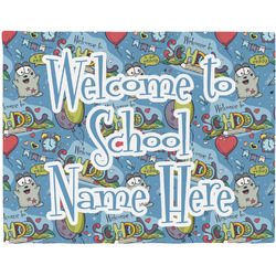 Welcome to School Woven Fabric Placemat - Twill w/ Name or Text
