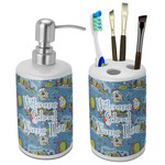 Welcome to School Ceramic Bathroom Accessories Set (Personalized)