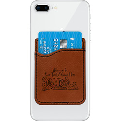 Welcome to School Leatherette Phone Wallet (Personalized)