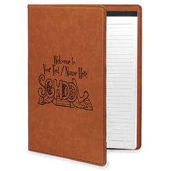Welcome to School Leatherette Portfolio with Notepad (Personalized)
