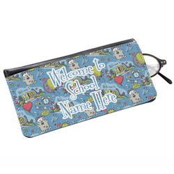 Welcome to School Genuine Leather Eyeglass Case (Personalized)
