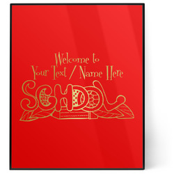 Welcome to School 8x10 Foil Wall Art - Red (Personalized)