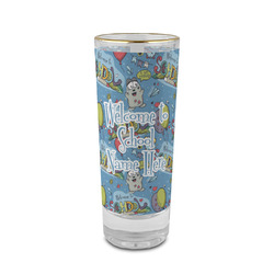 Welcome to School 2 oz Shot Glass - Glass with Gold Rim (Personalized)