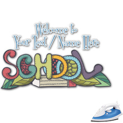Welcome to School Graphic Iron On Transfer (Personalized)