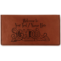 Welcome to School Leatherette Checkbook Holder (Personalized)