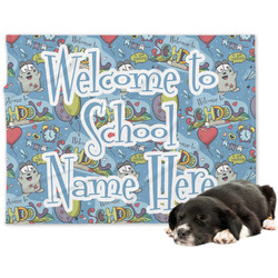 Welcome to School Dog Blanket (Personalized)