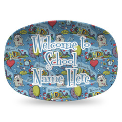 Welcome to School Plastic Platter - Microwave & Oven Safe Composite Polymer (Personalized)