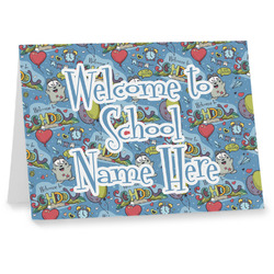 Welcome to School Note cards (Personalized)