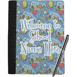 Welcome to School Notebook Padfolio - Large w/ Name or Text