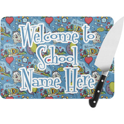 Welcome to School Rectangular Glass Cutting Board (Personalized)
