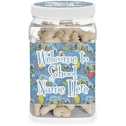 Welcome to School Dog Treat Jar (Personalized)