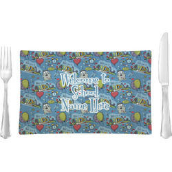Welcome to School Rectangular Glass Lunch / Dinner Plate - Single or Set (Personalized)