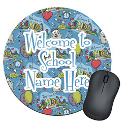Welcome to School Round Mouse Pad (Personalized)