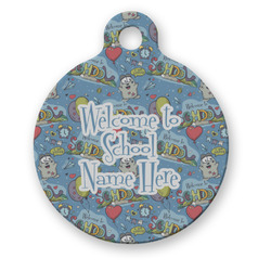 Welcome to School Round Pet ID Tag (Personalized)