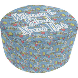 Welcome to School Round Pouf Ottoman (Personalized)