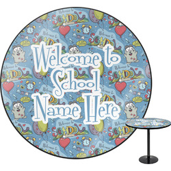 """Welcome to School Round Table - 24"""" (Personalized)"""