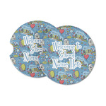 Welcome to School Sandstone Car Coasters (Personalized)