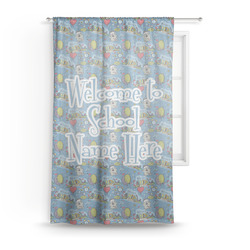 Welcome to School Sheer Curtains (Personalized)