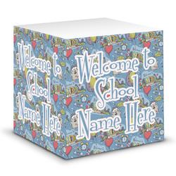 Welcome to School Sticky Note Cube (Personalized)