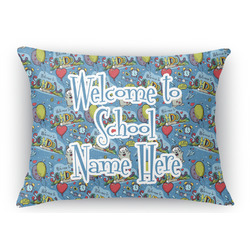 Welcome to School Rectangular Throw Pillow Case (Personalized)