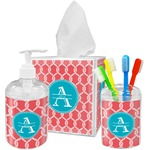 Linked Rope Acrylic Bathroom Accessories Set w/ Name and Initial